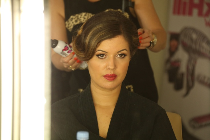 Alice has her hair styled by BAFTA partner Mark Hill. #BAFTAStyle