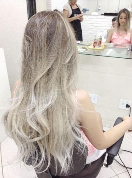 Perfect ash brown to platinum colour melt. #hairgoals ...