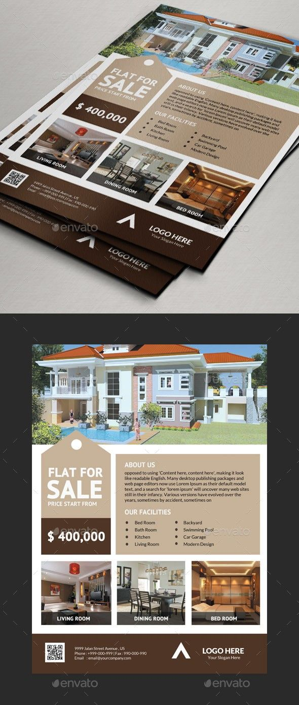 real estate flyers v3 flyers design pinterest magazine ads