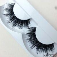 Ups frete grátis Natural Mink cílios postiços 500 par longo cílios alta qualidade falso Eye Lashes extensão maquiagem banda atacado