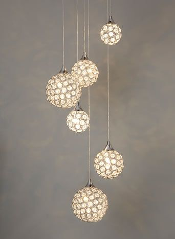 Oriana 6 light cluster - crystal  - Home, Lighting & Furniture