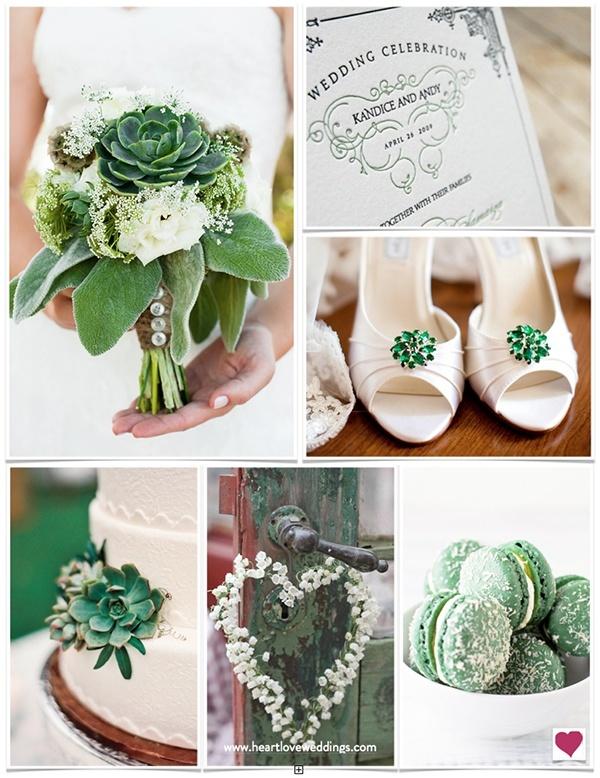 Beautiful... emerald green wedding ideas, pantone color of the year wedding ideas, trendy emerald wedding ideas, succulent wedding ideas