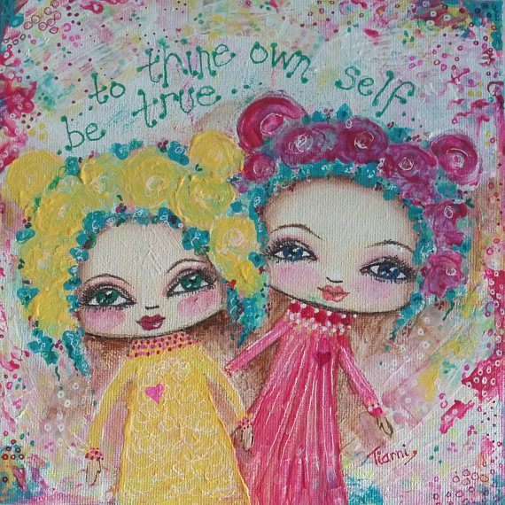 Hey, I found this really awesome Etsy listing at https://www.etsy.com/au/listing/525831640/pink-and-yellow-whimsical-painting-on