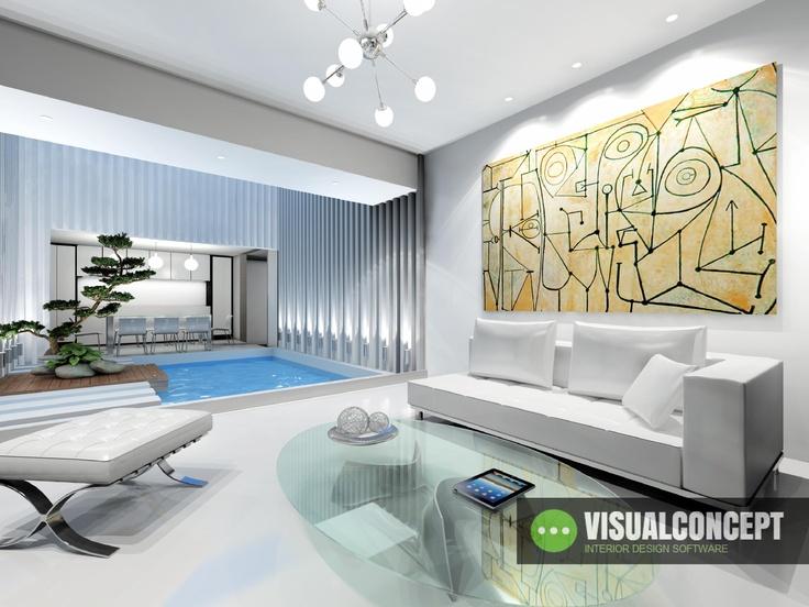 #Interiordesign #intericad Amazing Living Room design with InteriCAD