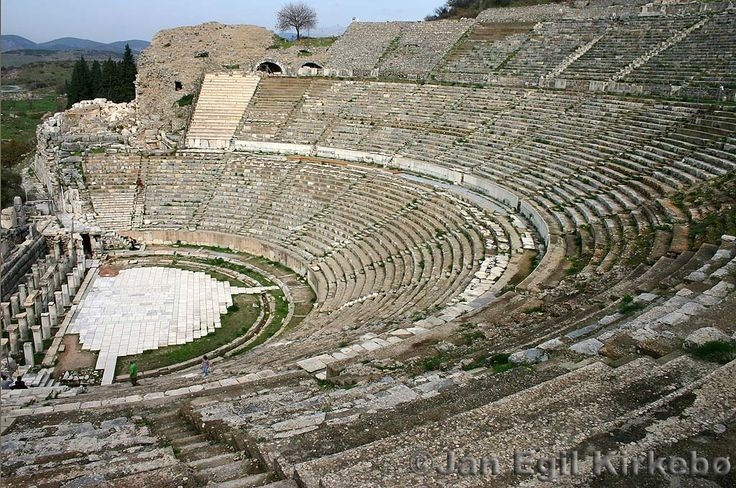 I have pics of me climbing up this as a kid!  (Grand Theatre in Ephesus, Turkey)