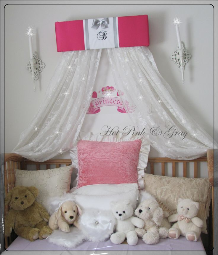 Princess Bed Canopy Girl Crown Pelmet Upholstered Awning: Personalized Canopy For Girls Bed Cornice Window Treatment