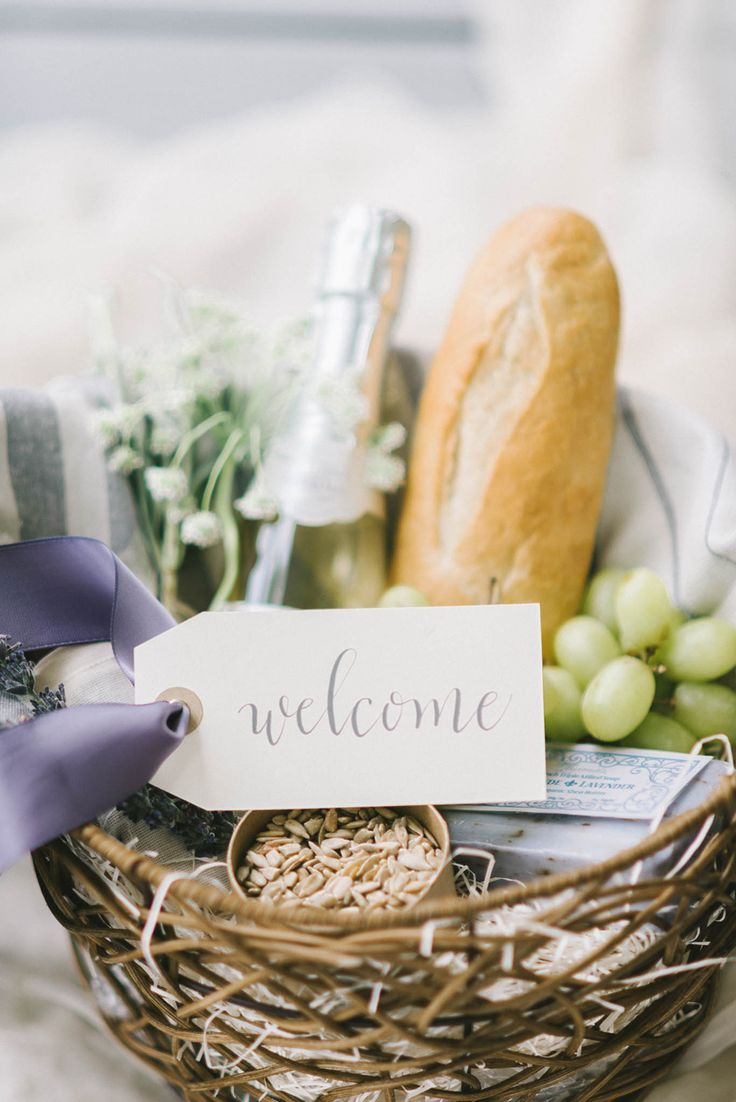 25+ best ideas about Welcome baskets on Pinterest | Guest basket ...