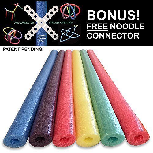 Oodles of Noodles Deluxe Foam Pool Swim Noodles - 6 PACK…