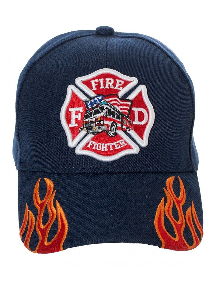 FIRE /& RESCUE Beanie hat Back With Red Embroidery