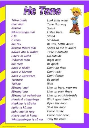 Maori vocabulary