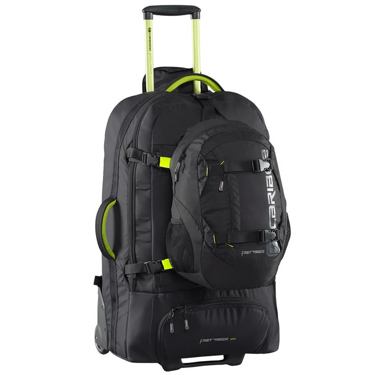 Caribee Fast Track 85 Black Wheeled Backpack