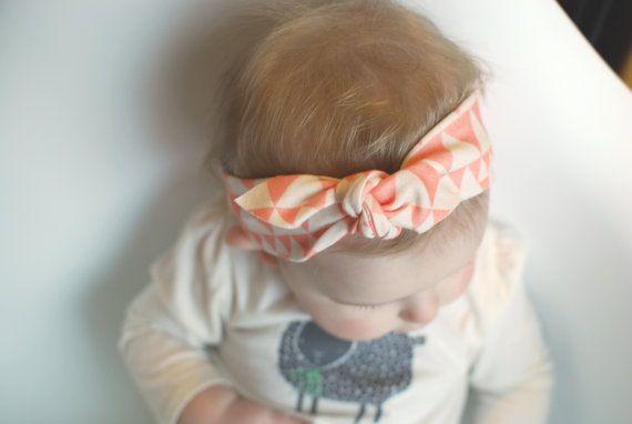 knotted headband organic cotton headband baby by LolaandStella, $12.00