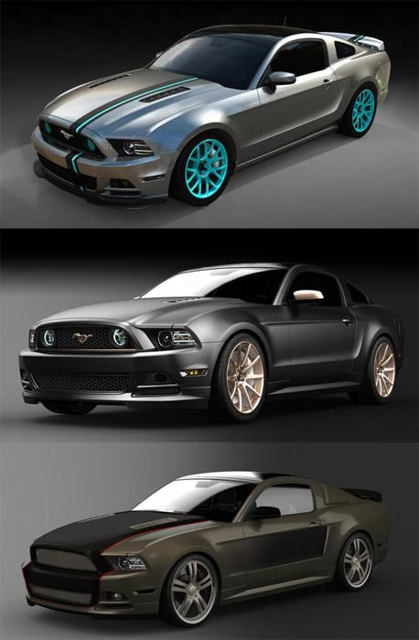 Teal Ford Mustang :)