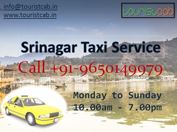 Hire Best Taxi Service in Srinagar Kashmir, at cheap and best price