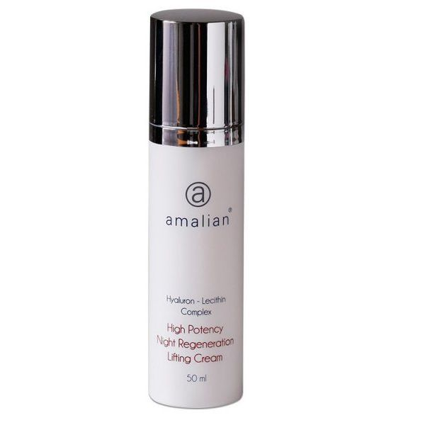 amalian® High Potency Night Regenerating Lifting Cream is an anti-wrinkle formula enriched with active ingredients. Visibly diminishes the depth of wrinkles and fine lines and is effective for treating age spots, sun damage and acne.