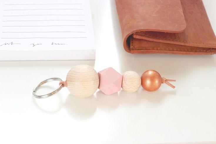 Schlüsselanhänger *Copper Love* : Kupfer und Rosa von Petite Pauline auf DaWanda.com