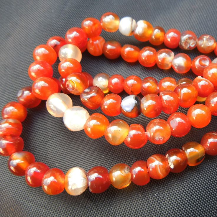 16in strand 6mm Red Agate Round Gemstone Jewellery Making Beads