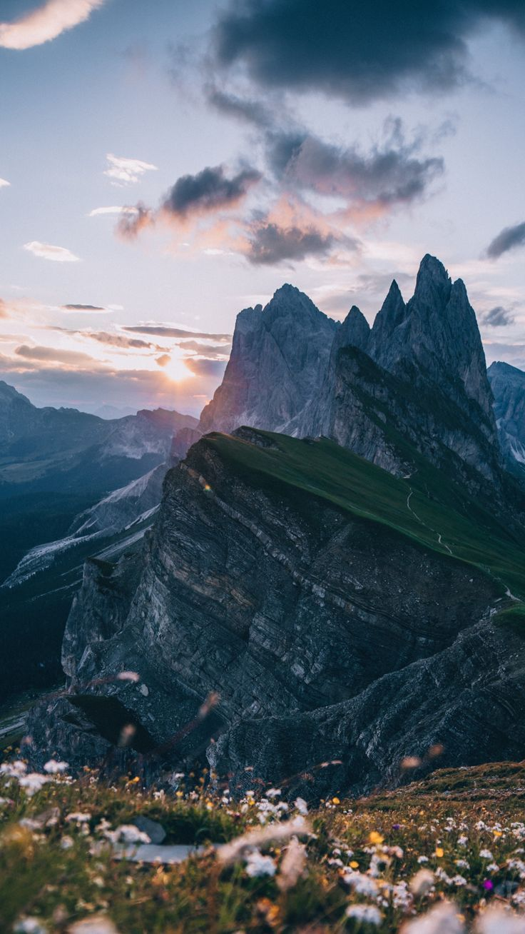 Dolomites Mountains Sunset 1080x1920 Wallpaper Iphone Wallpaper Mountains Aesthetic Photography Nature Nature Photography
