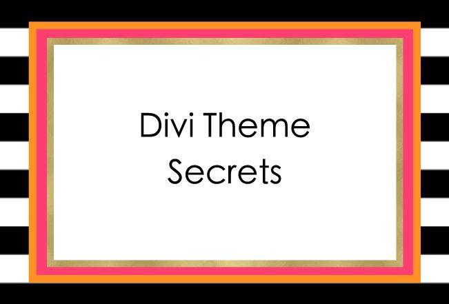 17 best images about divi theme secrets on pinterest - Divi font awesome ...