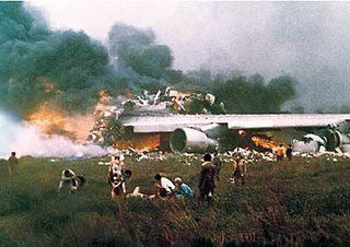 The Tenerife airport disaster occurred on Sunday, March 27, 1977, when two Boeing 747 passenger aircraft collided on the runway of Los Rodeos Airport (now known as Tenerife North Airport) on the Spanish island of Tenerife, one of the Canary Islands. With a total of 583 fatalities, the crash is the deadliest accident in aviation history. Among them were KLM Flight 4805 and Pan Am Flight 1736 – the two aircraft involved in the accident.