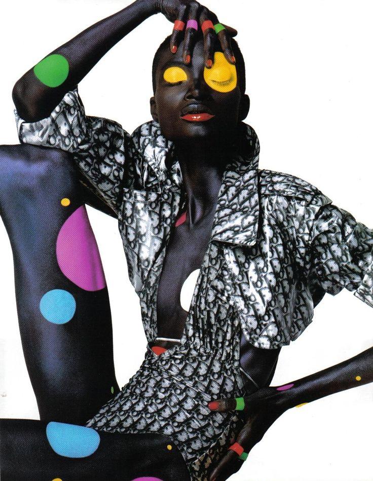 Citizen K, circa 2000's  Photographer: Alix Malka  Model: Debra Shaw: Polka Dots, High Fashion Photography, Fashion Models, Christian Dior, Africans American, Nyachii Blog, Debra Shaw, Black Beautiful, Dots Dots