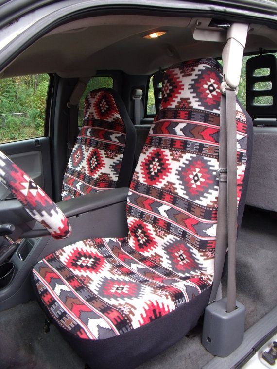 1 Set of Prairie Winds Brown  Car Seat Covers and by ChaiLinSews