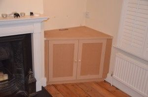 Angled Alcove Cupboard built in living room, in Wandsworth, South West London, SW8