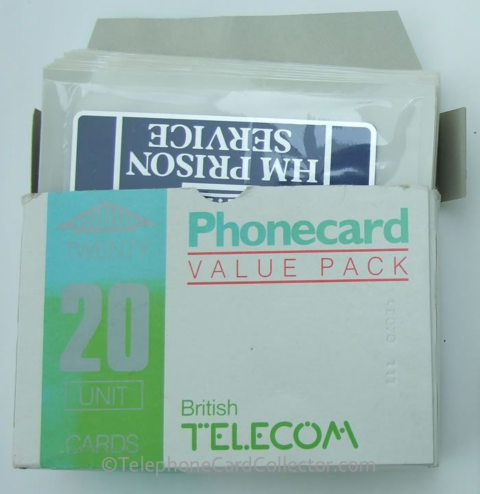 Box of 20 HM Prison Phonecards