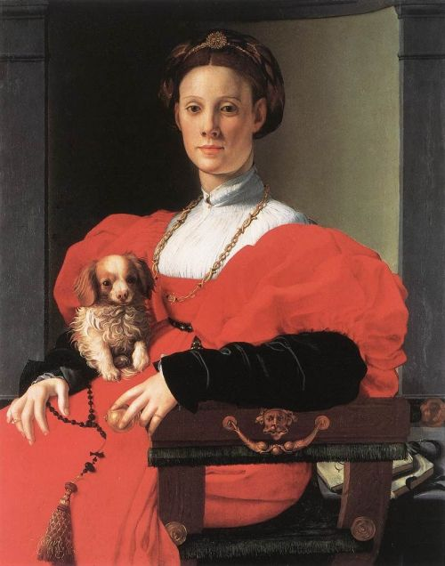 Nobilified   Most Popular : Lady in Red with a Puppy
