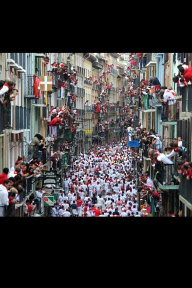Running of the Bull's, Pamplona, Spain