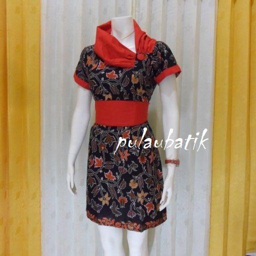 Dengan motif yang sama ada beberapa model dress batik wanita dibuat.  Nama motifnya cibulan dari pekalongan.