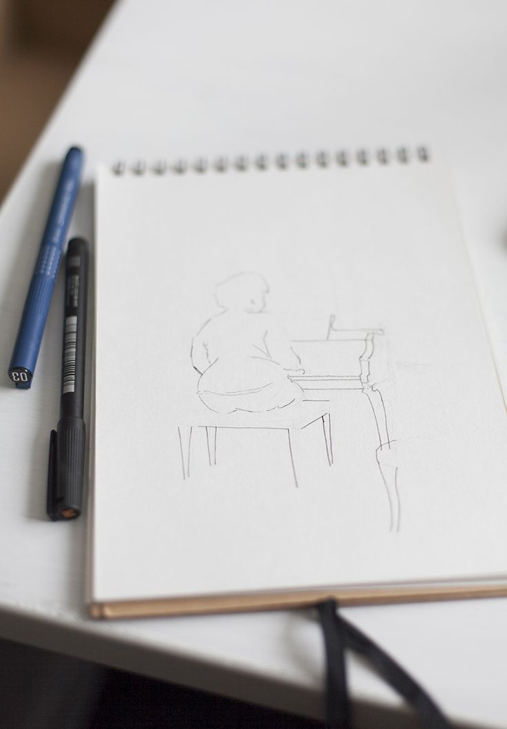 Process behind an ink drawing. BLOMSTRANDE | Teckna med tusch | http://blomstrande.com