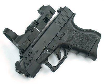 Guarder's Glock 26/27 Optical Device Mount (B-Type / Black) - Rgrips.com