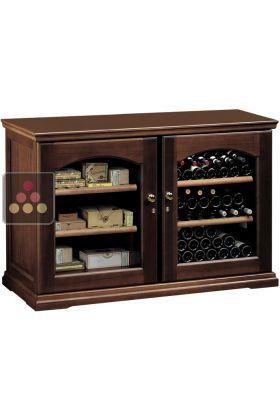 Combiné de cave à vin mono-température de conservation ou de service et cave à cigares CALICE, ACI-CAL420 - Ma Cave à Vin