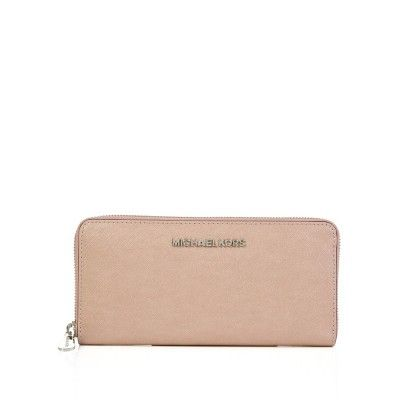 Michael Kors Pink Saffiano Leather Continental Purse