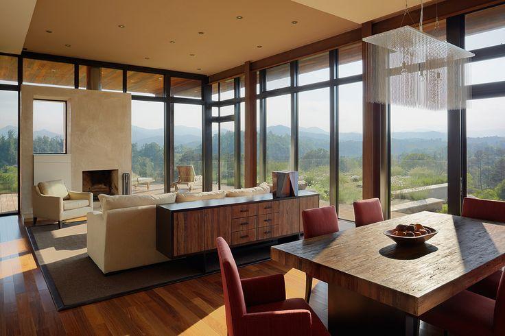 Asheville House in Asheville, N.C. Designed by Eric Gartner of SPG Architects in New York, N.Y.