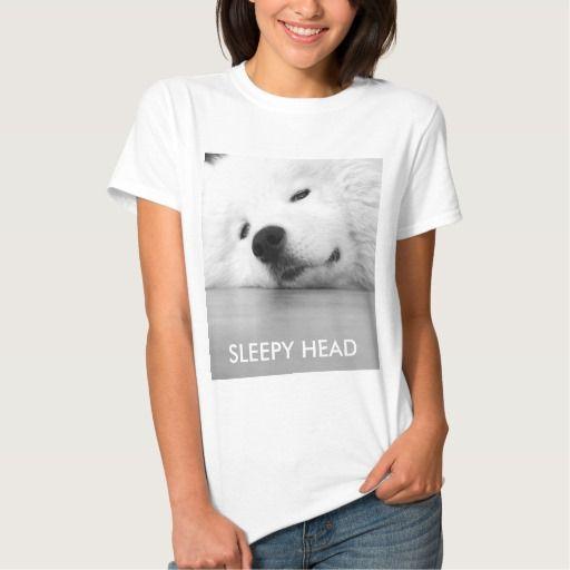 Sleepy Samoyed Dog T-shirt cutest must have!