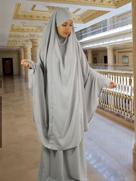 Set Khimar & Rock light grey