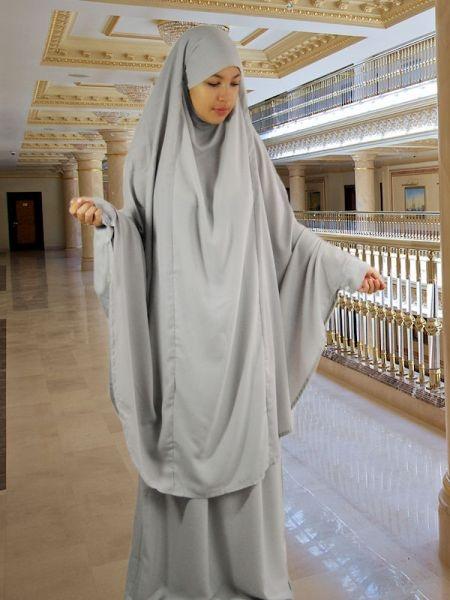 Set Khimar & Rock light grey from hijabshop