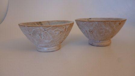 ciotole set 2 pezzi ceramica smaltata di TRACCEBOTTEGAARTIGIA, €22.00