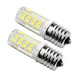 Ceramic E17 LED Bulb for Microwave Oven Appliance 4W (40W Halogen Bulb Equivalent) Daylight White 6000K( Pack of 2)