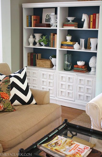 Open Shelves Make The Most Of This Narrow Alcove Perfect: Best 25+ Painted Bookcases Ideas On Pinterest