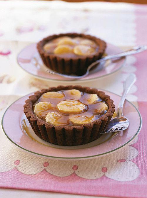 Tartelettes au sirop d'�rable et aux bananes