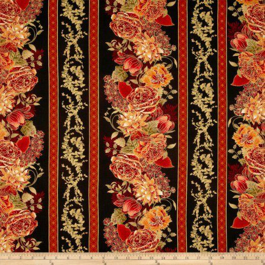Black Flower Fabric Timeless Treasures Tree Of Life: 1627 Best Borders & Corners Images On Pinterest