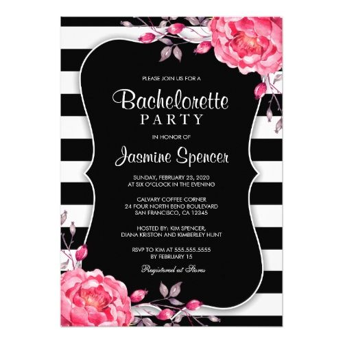 1017 best Floral Wedding Invitations images on Pinterest - invitation template bridal shower