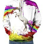 Pretty321 Men Women Colorful Graffiti Horse Unicorn 3D Sweatshirt Hoodie Unisex: An Ideal Gift for him/her! - Fashion Stylish Catch Eyes of…