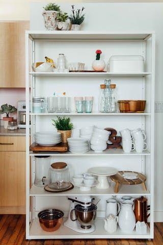 offenes Küchenregal