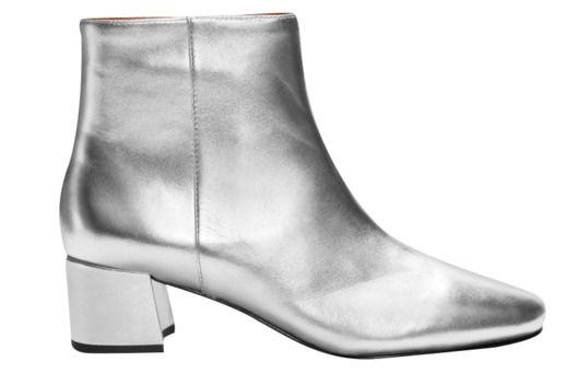 13 Pairs of Chic Shoes You Can Actually Walk In -- At London Fashion Week, Toga showed amazing, glittery silver boots. Those are sadly not available yet, but this is a satisfying compromise.  & Other Stories silver ankle boots