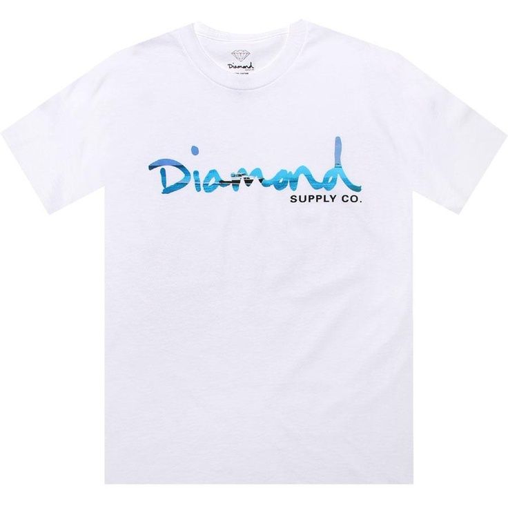 Diamond Supply Company OG Yacht Tee in white