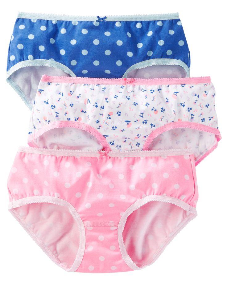 Toddler Girl 3-Pack Stretch Cotton Panties   OshKosh.com